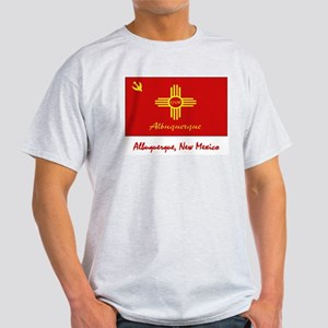 Albuquerque NM Flag Light T-Shirt