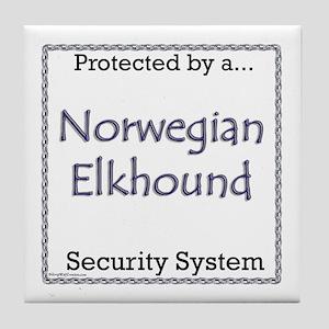 Elkhound Security Tile Coaster