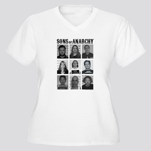 SOA Mugshots Women's Plus Size V-Neck T-Shirt
