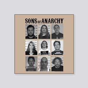 "SOA Mugshots Square Sticker 3"" x 3"""