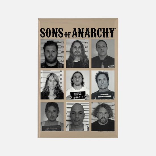 SOA Mugshots Rectangle Magnet
