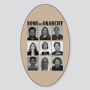 SOA Mugshots Sticker (Oval)