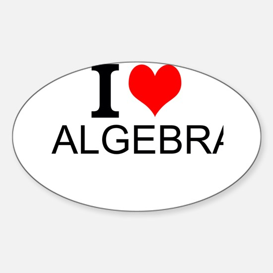 I Love Algebra Decal