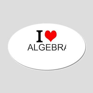 I Love Algebra Wall Decal