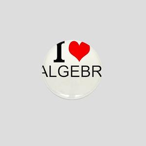 I Love Algebra Mini Button