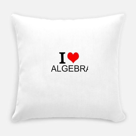 I Love Algebra Everyday Pillow