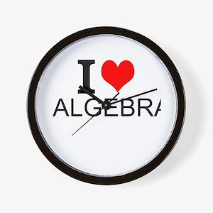I Love Algebra Wall Clock