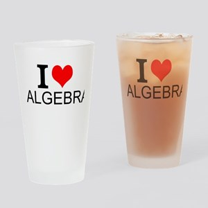 I Love Algebra Drinking Glass