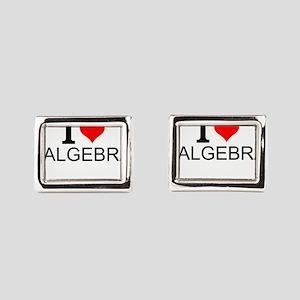 I Love Algebra Rectangular Cufflinks