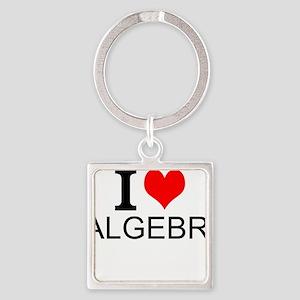 I Love Algebra Keychains