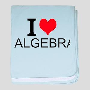 I Love Algebra baby blanket
