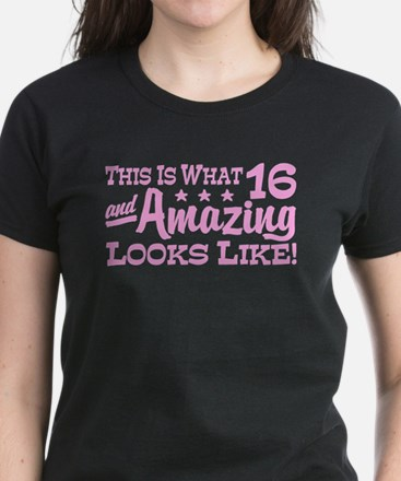 Funny 16th Birthday Women's Dark T-Shirt