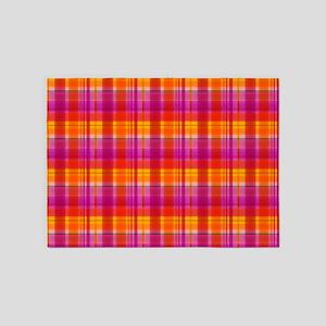 Fall Colors Plaid 5'x7'Area Rug