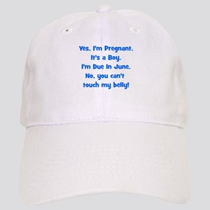Pregnant Boy due June Belly Cap