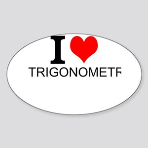 I Love Trigonometry Sticker