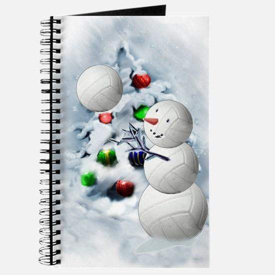 Volleyball Snowman xmas Journal