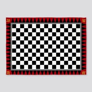 Le Droit Humain Masonic 5'x7'area Rug