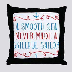 Skillful Sailor Throw Pillow