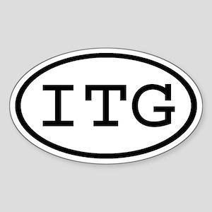 ITG Oval Oval Sticker