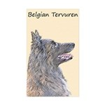 Belgian Tervuren Sticker (Rectangle 10 pk)