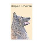 Belgian Tervuren Sticker (Rectangle 50 pk)
