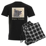 Belgian Tervuren Men's Dark Pajamas