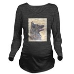 Belgian Tervuren Long Sleeve Maternity T-Shirt