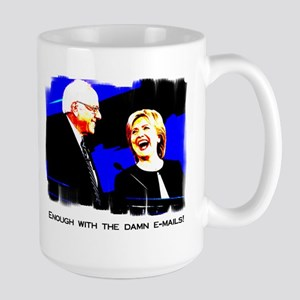 Bernie Sanders Hillary Clinton Large Mug