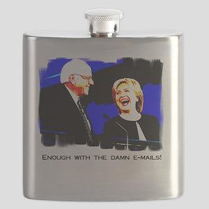 Bernie Sanders Hillary Clinton Flask