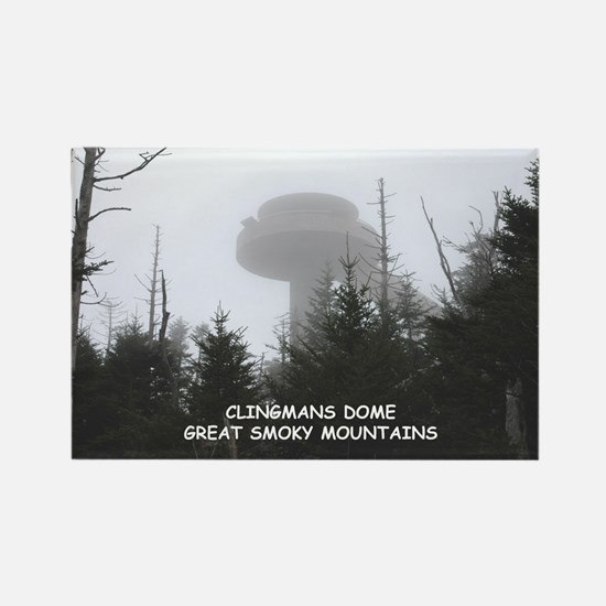 Clingman's Dome In The Fog Magnets