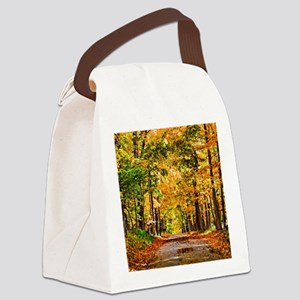 Autumn Road Canvas Lunch Bag