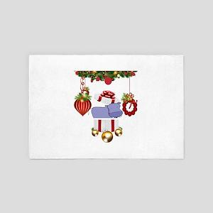 Christmas Hippo 4' x 6' Rug