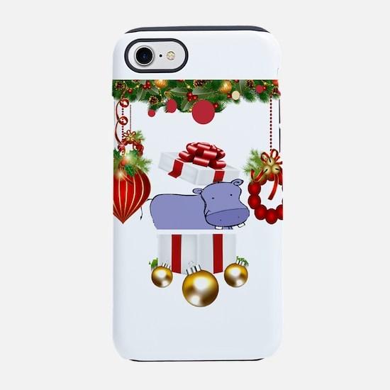 Christmas Hippo iPhone 8/7 Tough Case