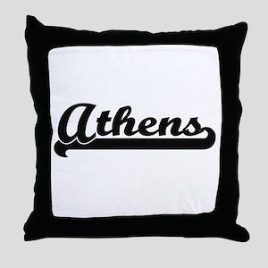 I love Athens Georgia Throw Pillow