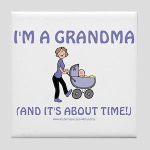 I'm A Grandma Tile Coaster