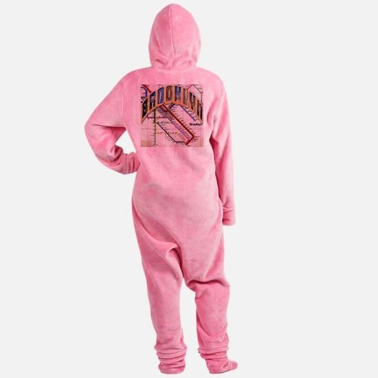 brookly logo Footed Pajamas
