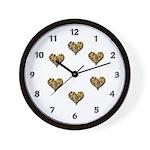 Chocolate Chip Love Wall Clock