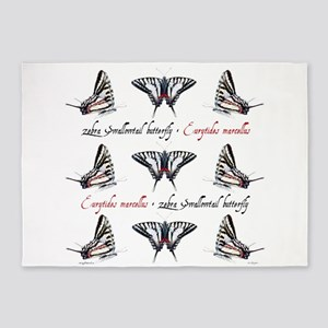 Zebra Swallowtail 5'x7'area Rug