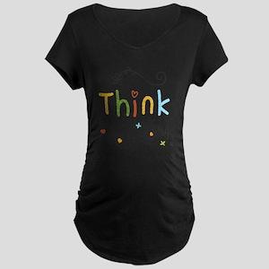 Think Happy Maternity Dark T-Shirt