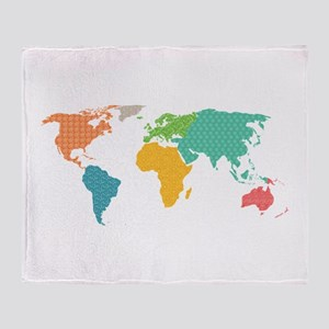 World map blankets cafepress world map throw blanket gumiabroncs Images