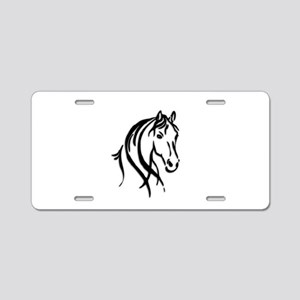 Black Horse Aluminum License Plate