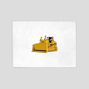 Bulldozer 5'x7'Area Rug
