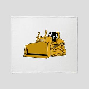 Bulldozer Throw Blanket
