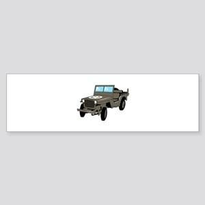 WWII Army Jeep Bumper Sticker