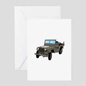 WWII Army Jeep Greeting Cards