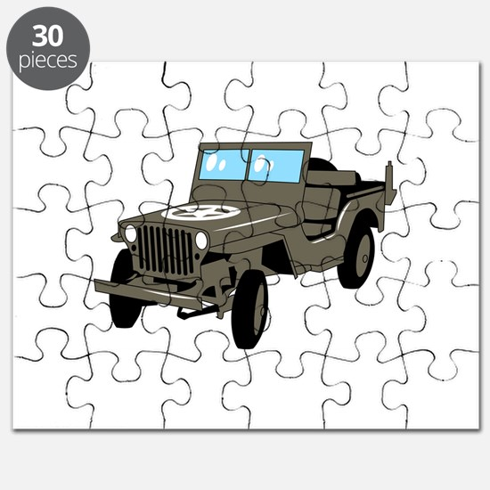 WWII Army Jeep Puzzle