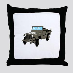 WWII Army Jeep Throw Pillow