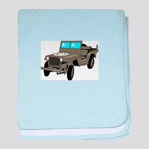 WWII Army Jeep baby blanket