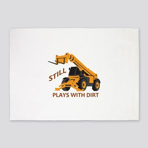 Plays With Dirt 5'x7'Area Rug