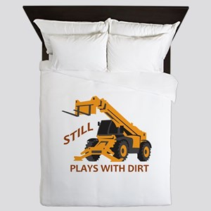 Plays With Dirt Queen Duvet